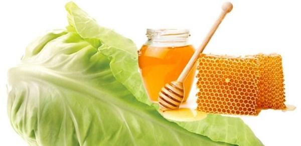 капуста и мед от кашля